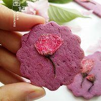紫薯樱花饼干,有颜更好吃#浪漫樱花季#的做法图解11