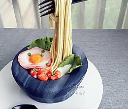 翻糖蛋糕-长寿石锅拉面#豆果5周年#的做法