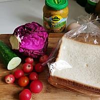 #夏日撩人滋味#三分鐘快手早餐 開放式三明治的做法圖解1