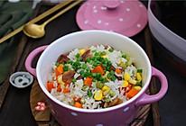蔬菜腊肠饭的做法
