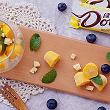 玩转德芙柠檬曲奇白巧克力——芒果酸奶白巧冰砖#冷藏更香脆#
