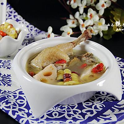 莲藕玉米鸡汤煲