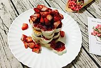 花生酱草莓土司塔的做法