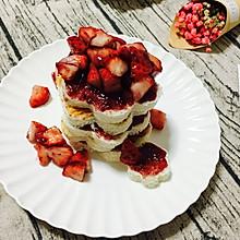 花生酱草莓土司塔