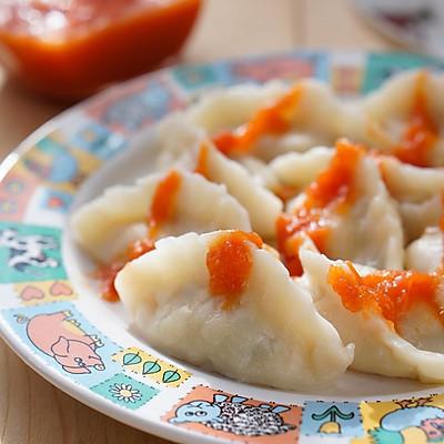 鸡肉荸荠饺子——冬季暖身菜(配自制蕃茄酱)