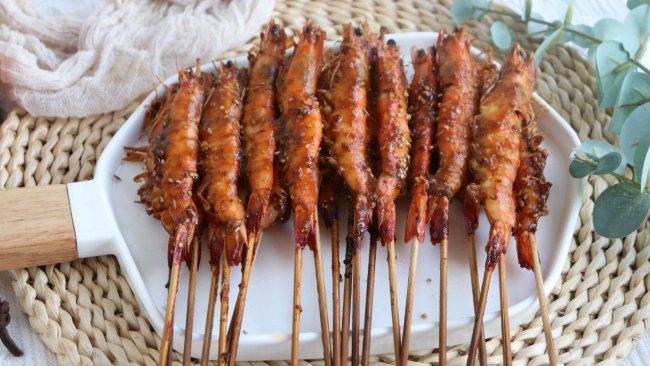 #名厨汁味,圆中秋美味#超鲜美低脂孜然烤大虾的做法