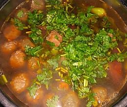 狮子头油菜汤的做法