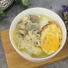 蘑菇大白菜面