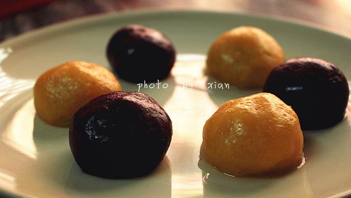 双色番薯丸