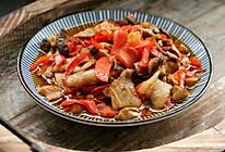 家常小炒,白玉菇辣椒炒肉的做法