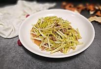 肉末韭黄的做法