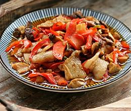 家常小炒,白玉菇辣椒炒肉