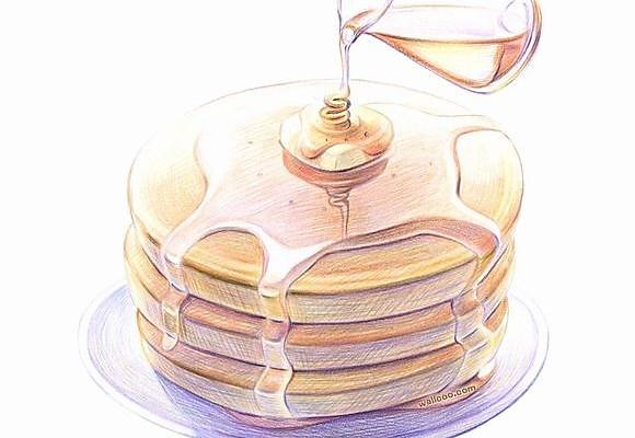 #寻人启事#简单美味的下午茶各式无油水果pancake/的做法