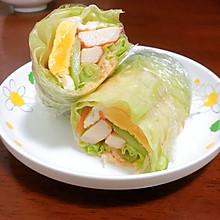 低脂减肥餐——健康营养生菜卷!!