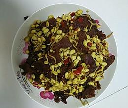 牛肉烧黄豆芽的做法
