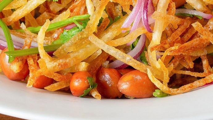 【三丝爆豆】土豆丝这样吃,酸甜爽脆万人迷!