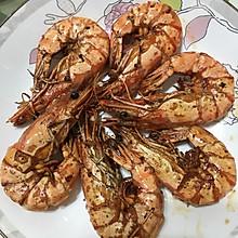 黑胡椒煎黑虎虾