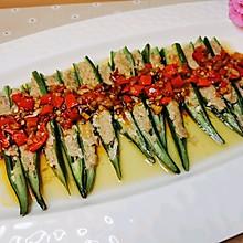 剁椒肉末酿秋葵
