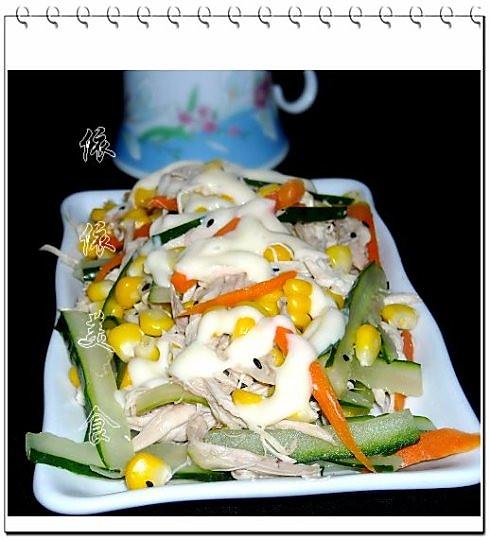 鸡肉黄瓜玉米沙拉的做法