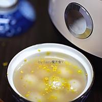 桂花藕粉圆子羹#花10分钟,做一道菜!#的做法图解9
