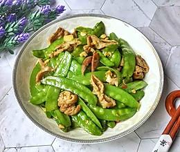 #520,美食撩动TA的心!#荷兰豆炒腊猪肠的做法