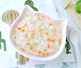 11M+鲜虾丝瓜粥:宝宝辅食营养食谱菜谱的做法