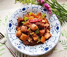 #秋天怎么吃#红烧土豆杏鲍菇排骨(高压锅版)的做法