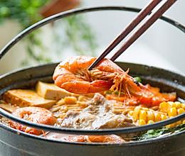 番茄泡菜鲜蔬锅的做法