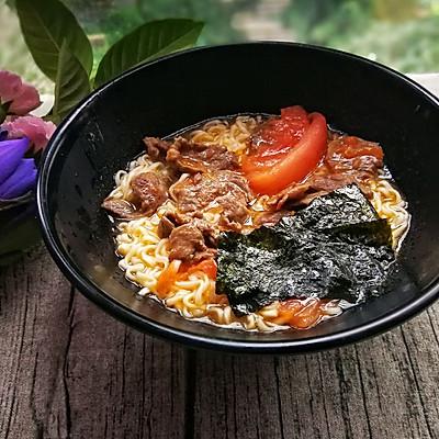 番茄牛肉紫菜面