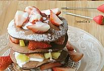 超简单的巧克力松饼塔的做法