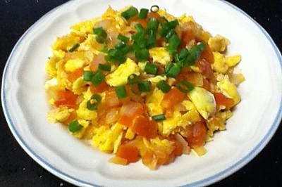 洋葱版----西红柿炒鸡蛋