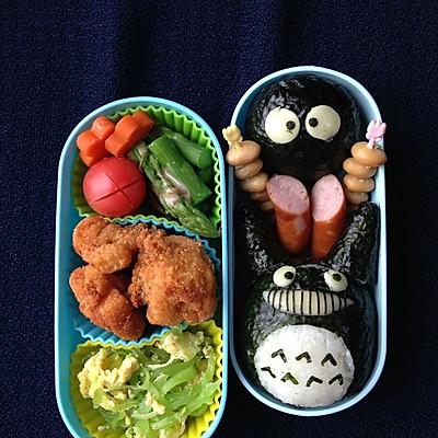 龙猫饭团 - 小学生的午餐便当