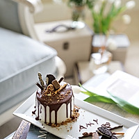 巧克力淋面蛋糕-祝自己生日快乐的做法图解29