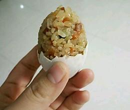咸鸭蛋灌糯米饭的做法