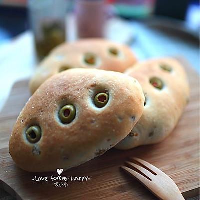 健康橄榄全麦素面包的做法 步骤10