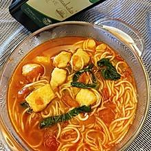 番茄龙利鱼米线