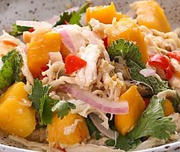 辣拌芒果鸡:酸甜清爽真开胃的做法