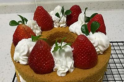 清新草莓裸蛋糕