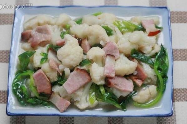 腊肉烧花菜的做法