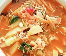 简易版辣白菜汤的做法