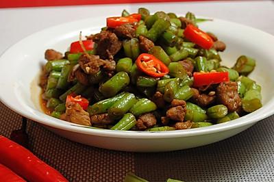 橄露Gallo经典特级初榨橄榄油试用之鸭肉炒刀豆角