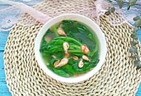 茼蒿河虾汤的做法