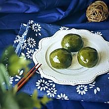 春日滋味:抹茶咸蛋黄肉松青团