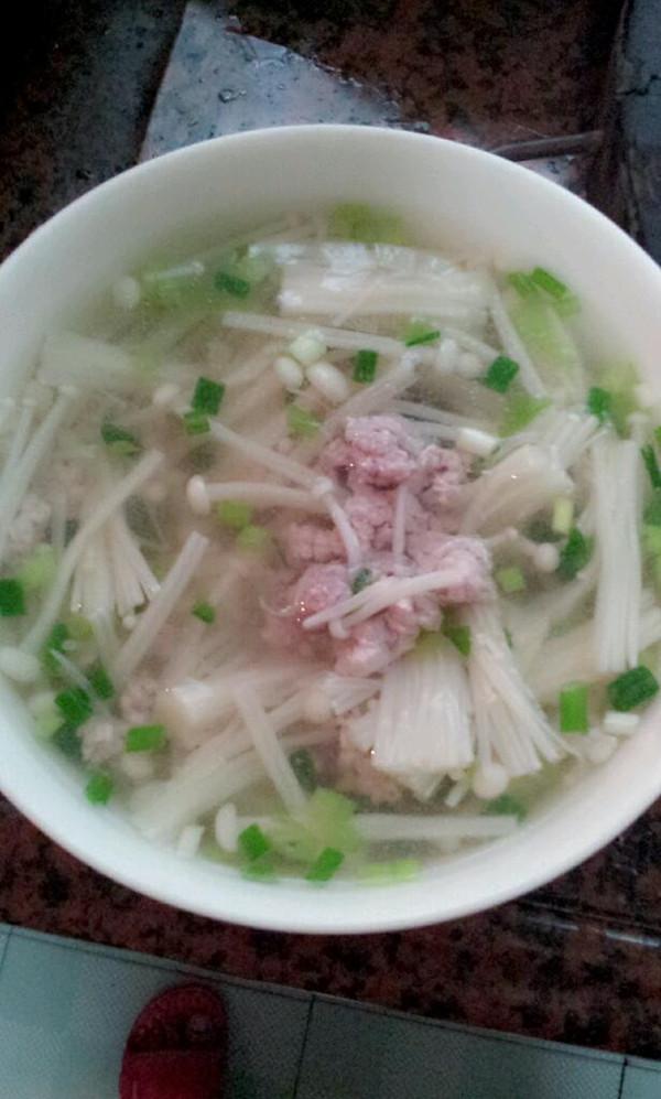 金针菇瘦肉汤的做法