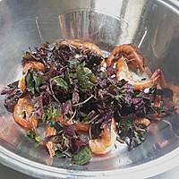 下酒菜椒盐紫苏虾的做法图解3