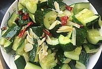 蒜香炝锅黄瓜的做法