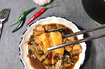 【菜干炖肉】入口即化,肥而不腻#做道懒人菜,轻松享假期#