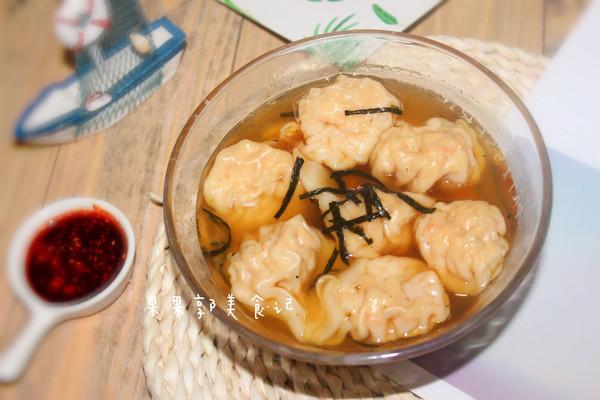 #花10分钟,做一道菜!#鲜虾云吞-快手早餐的做法