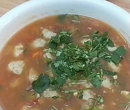 #春日时令,美味尝鲜#Q弹茄汁鱼丸汤零添加的做法