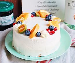 百香果奶油蛋糕(初遇青提蛋糕~)的做法